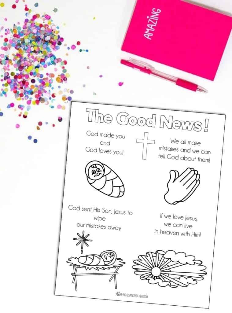 Sharing the Gospel Coloring Sheet