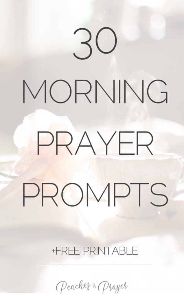 30 minute prayer prompts free printable