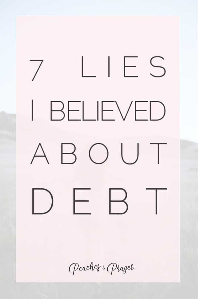 7 Lies I believed about Debt