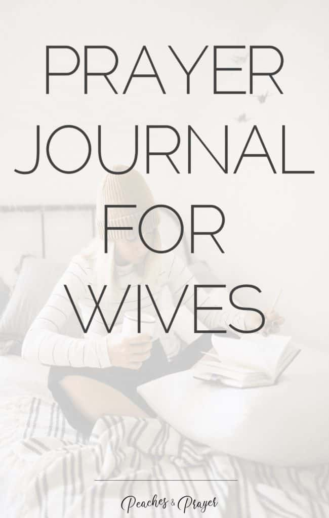 Free prayer journal for wives