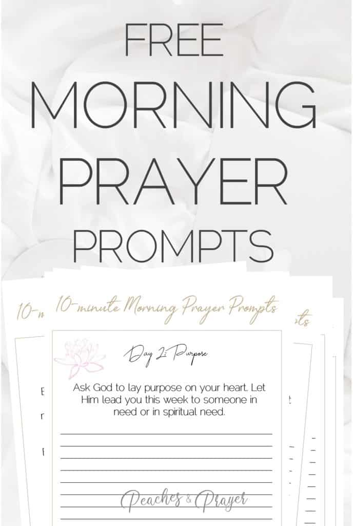 Morning prayer prompts printable to start your day