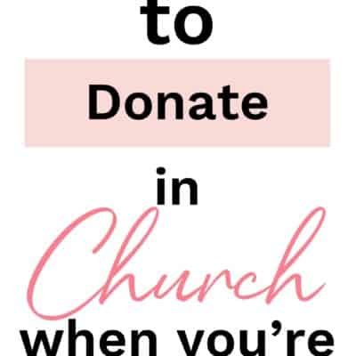 5 Ways to Donate in the Church When You're Broke