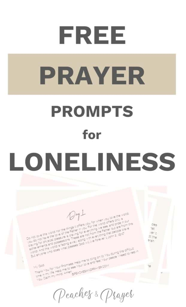 Free Prayer Prompts for Loneliness