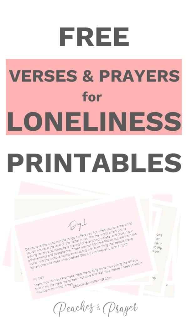 Free verses and prayers for loneliness printables