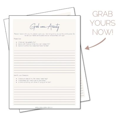 Anxiety Journal Printable for Christian Women