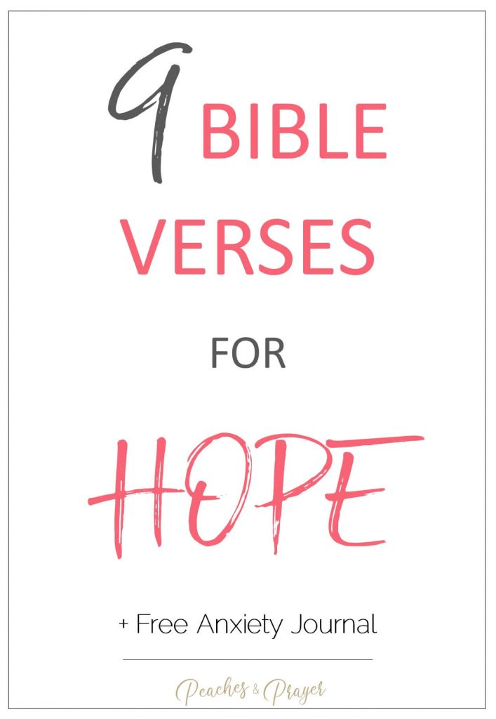 9 Bible Verses for Hope when you're anxious