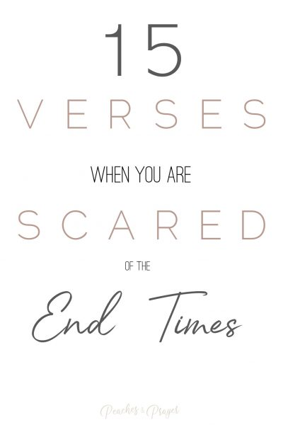 Bible Verses for when you're scared of the End Times