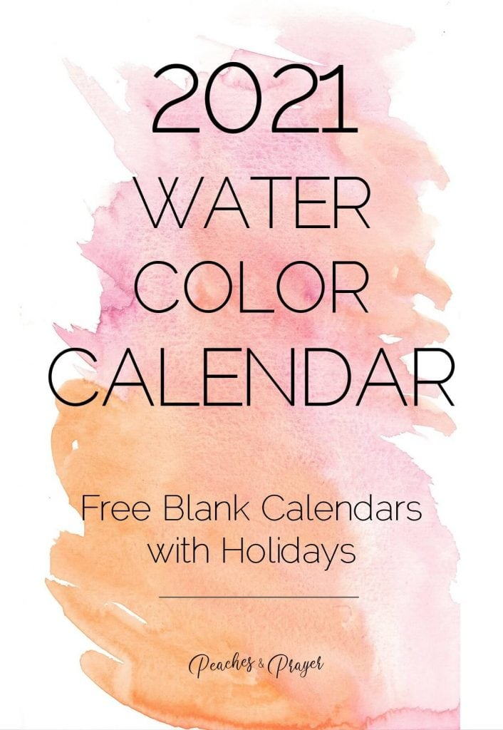 2021 Blank Calendars with Holidays