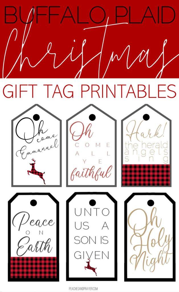 Free Buffalo Plaid Gift Tag Printables