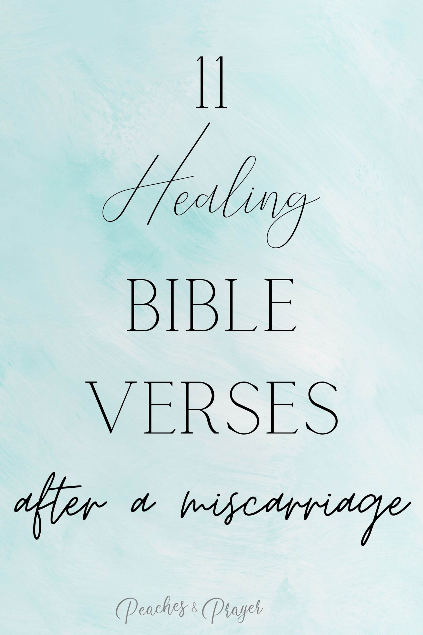 Bible Verses for Grief Miscarriage