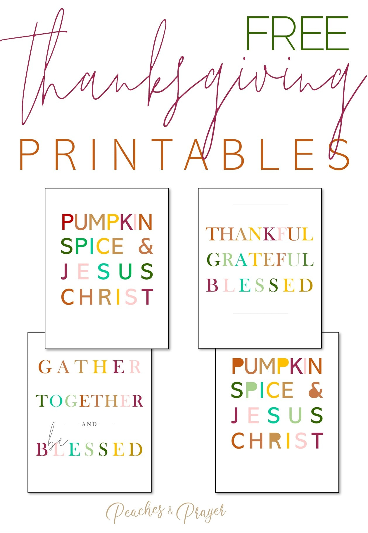 4 Free Fall Printables to Download