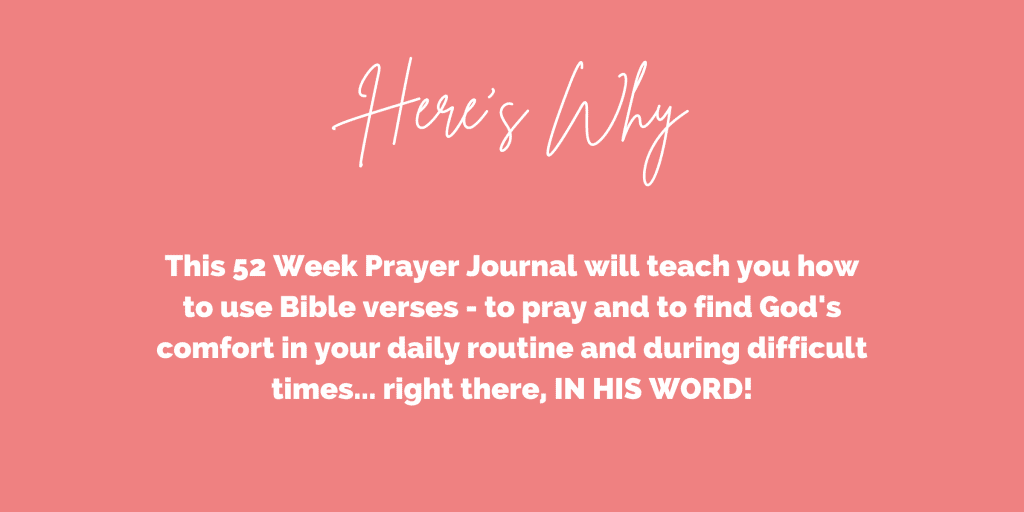 Prayer Journal with Scriptures for comfort