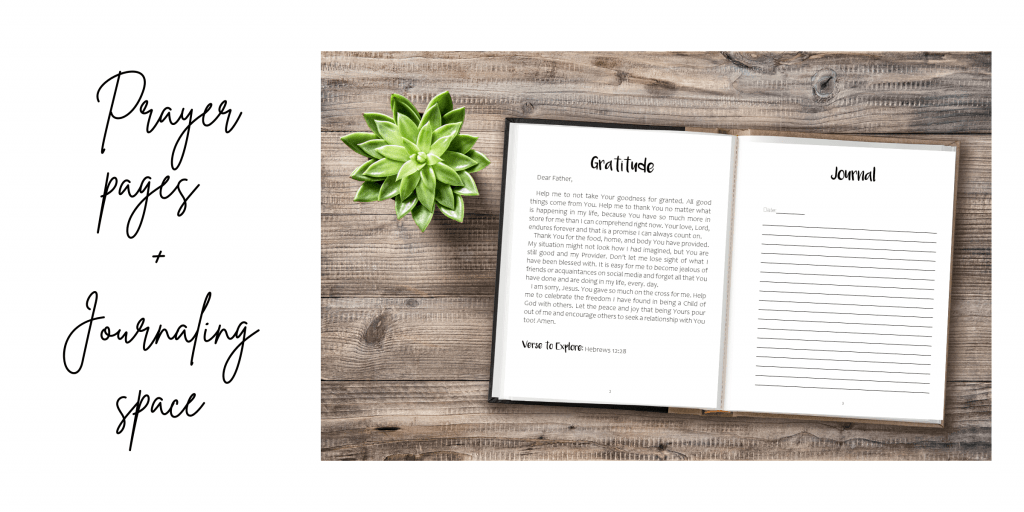 52 Week Prayer Journal with prayer pages and journaling space for women