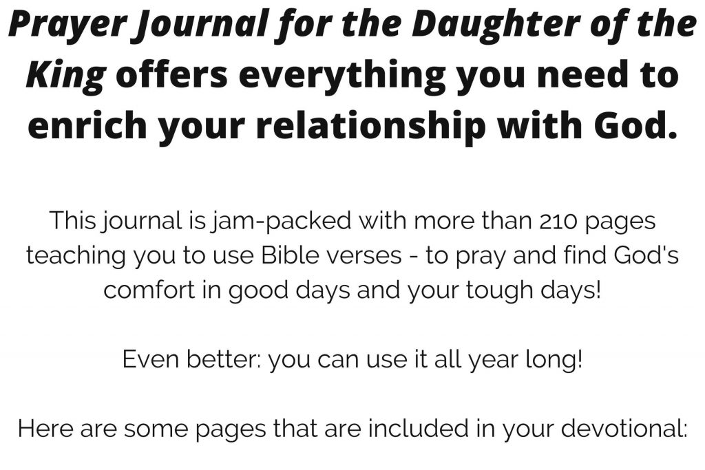 A prayer journal to enrich your relationship with God
