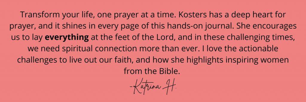 Prayer Journal Customer Quote