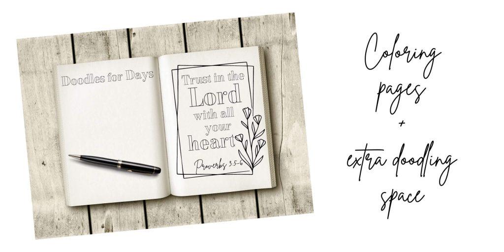 52 Week Coloring Prayer Journal for Christian Women
